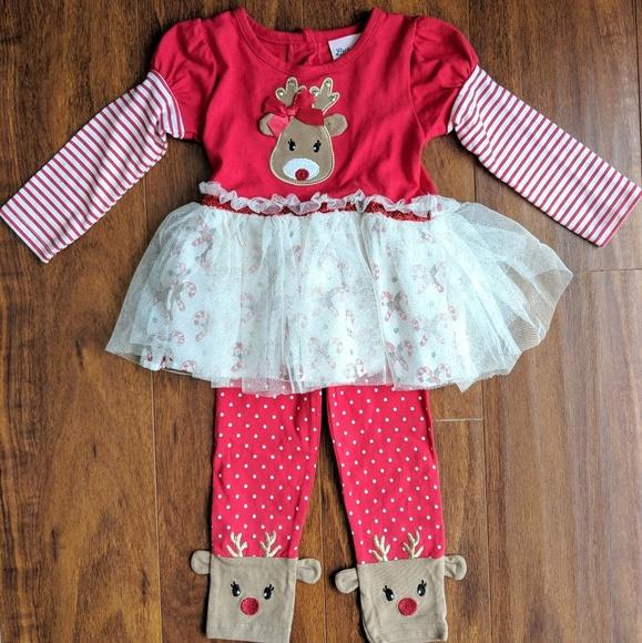 6c1ed6e9d01a3 Little Lass Matching Sets | Nwot Girls Christmas Outfit | Poshmark